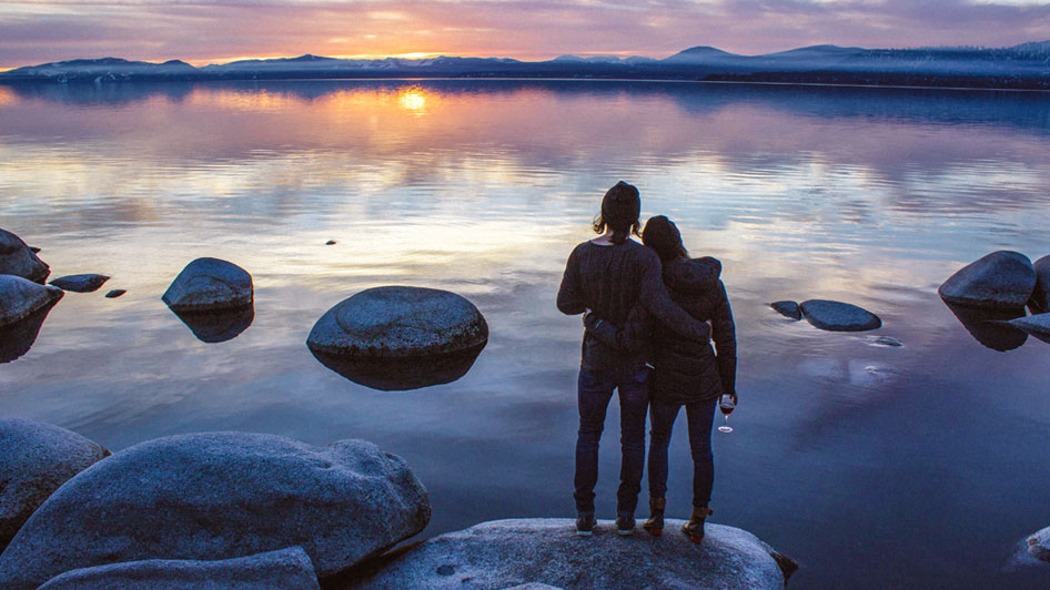 Laura and Nick Visconti Lake Tahoe Sunset