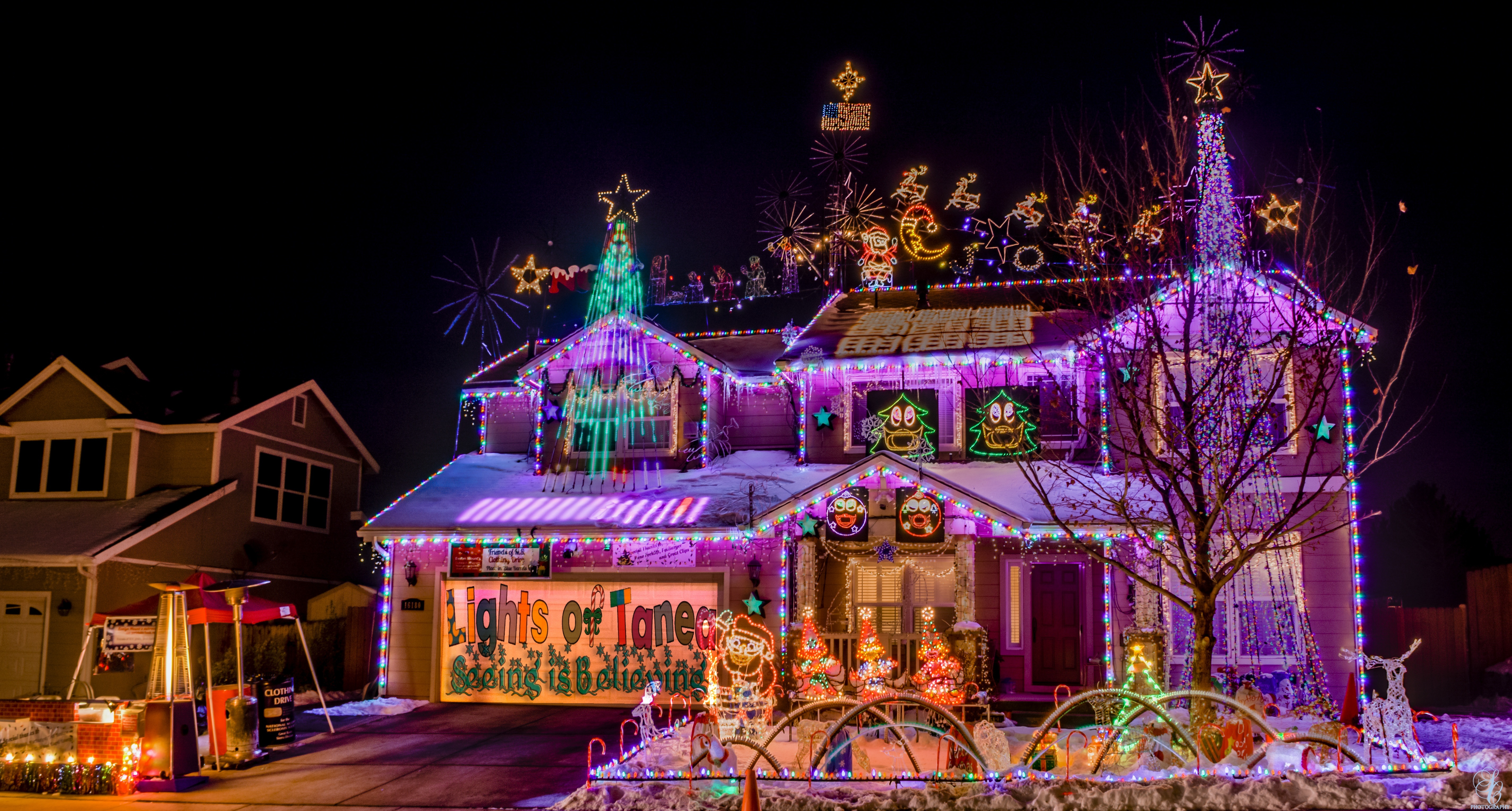 locals are glowing with holiday spirit