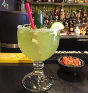 Cucumber Jalapeño Margarita at Chuy's.