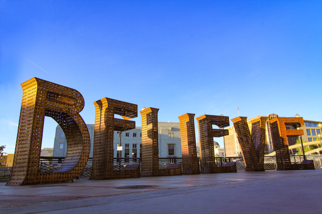 Image result for believe sign downtown reno