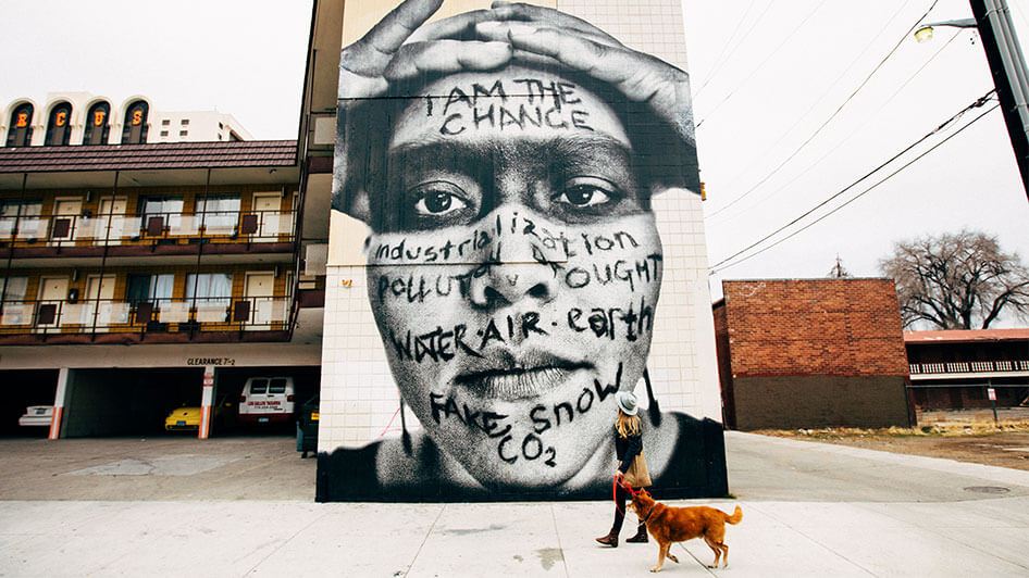 mural art girl with dpg