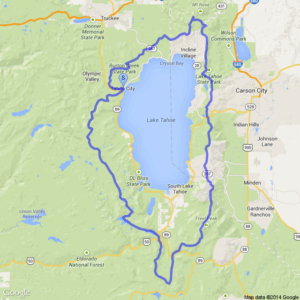 Click to view Tahoe Rim Trail map