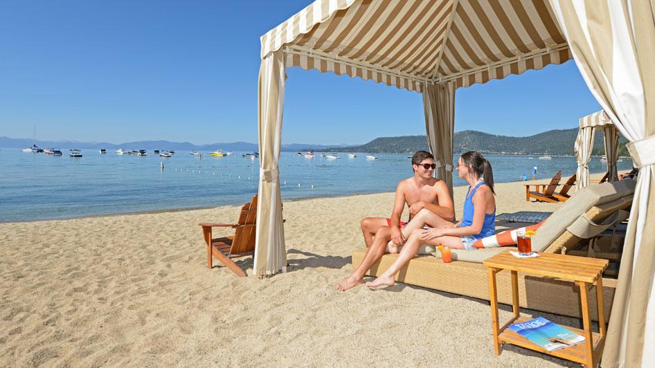 Hyatt Lake Tahoe beach cabana