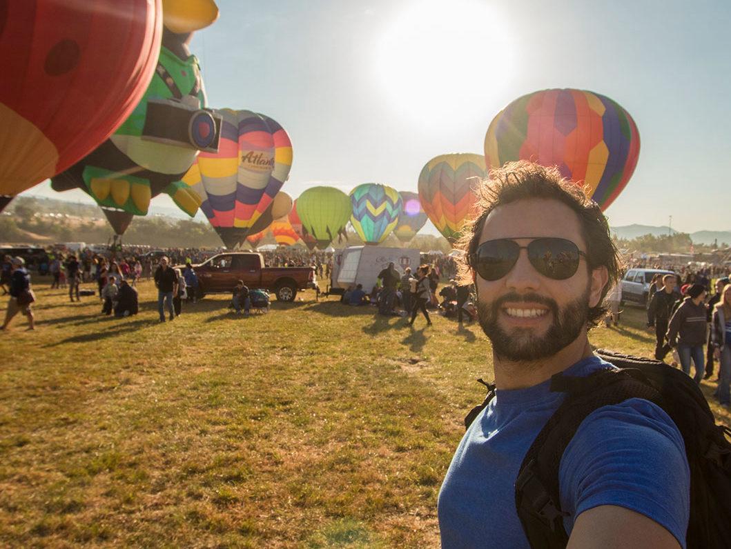 Alex Chacon Great Reno Balloon Race Selfie
