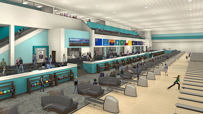 National Bowling Stadium 2019 Remodel Rendering Downtown Reno