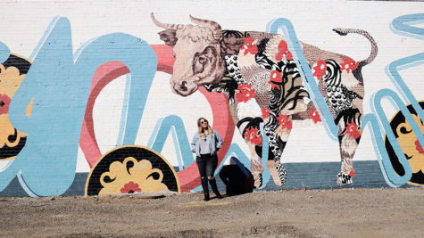 Abbey Kay with MidTown Mural