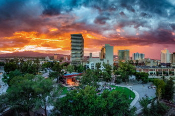 Downtown Reno Sunset Skyline feature