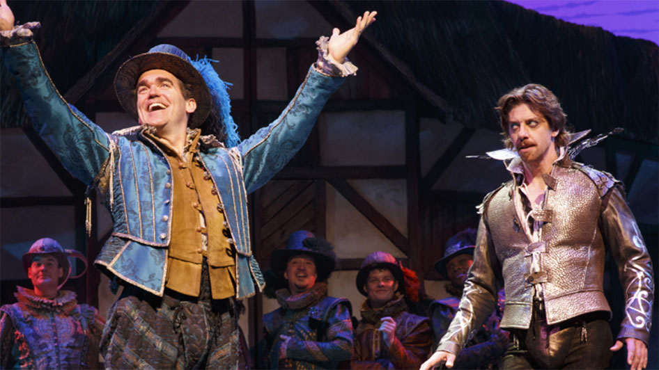 Something Rotten! musical performance showing at the Pioneer Center for Performing Arts