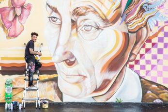 Joe C Rock Mural Midtown Reno