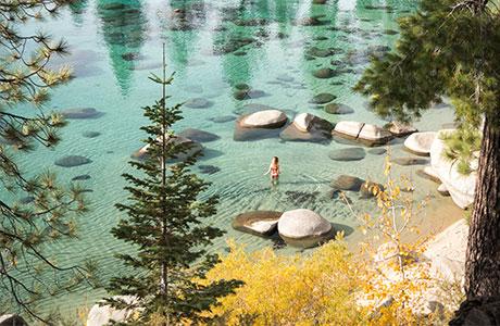 Fall Swim Lake Tahoe