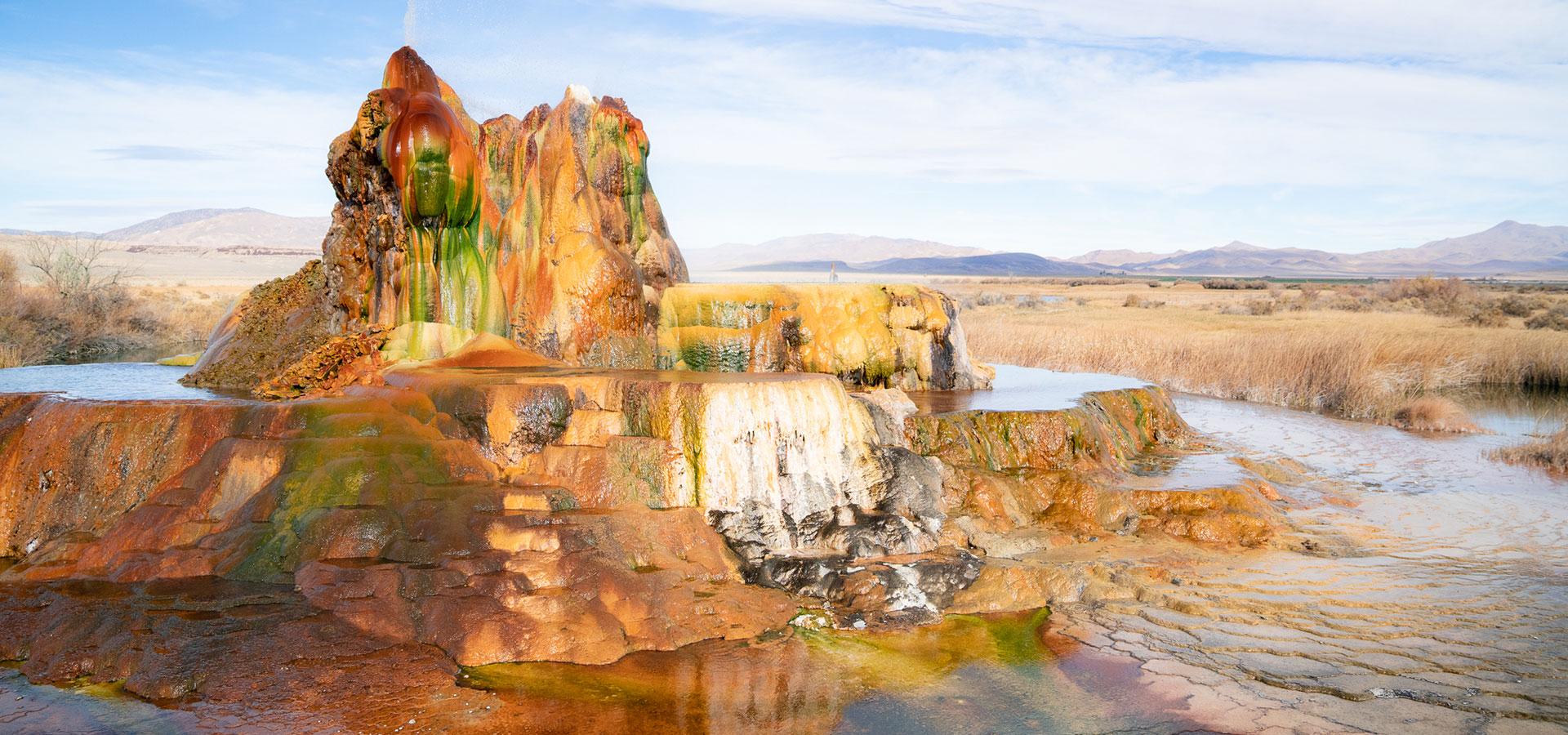 Jess and Quin Fly Geyser Black Rock Desert