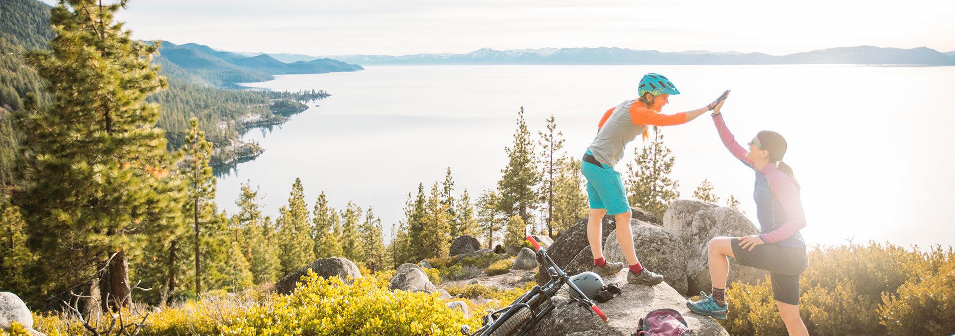 Aly Nicklas Mountain Biking Lake Tahoe