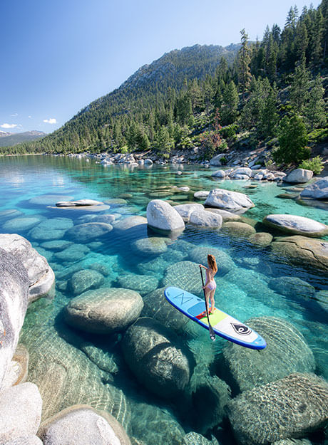 JessWandering Stand-Up Paddleboard Lake Tahoe