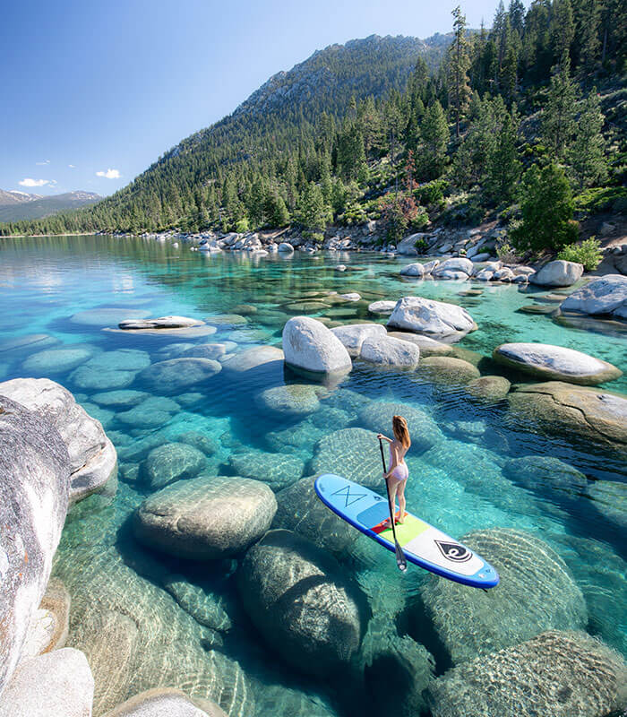 JessWandering Stand Up Paddleboard Lake Tahoe