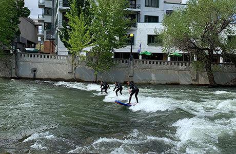 Surfing Truckee River Reno