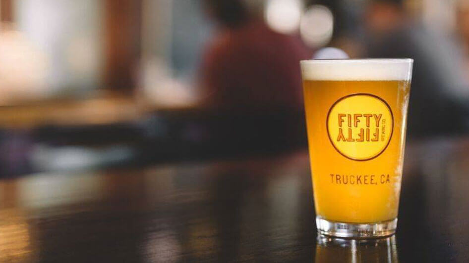 FiftyFifty Brewing Co. Glass of Beer