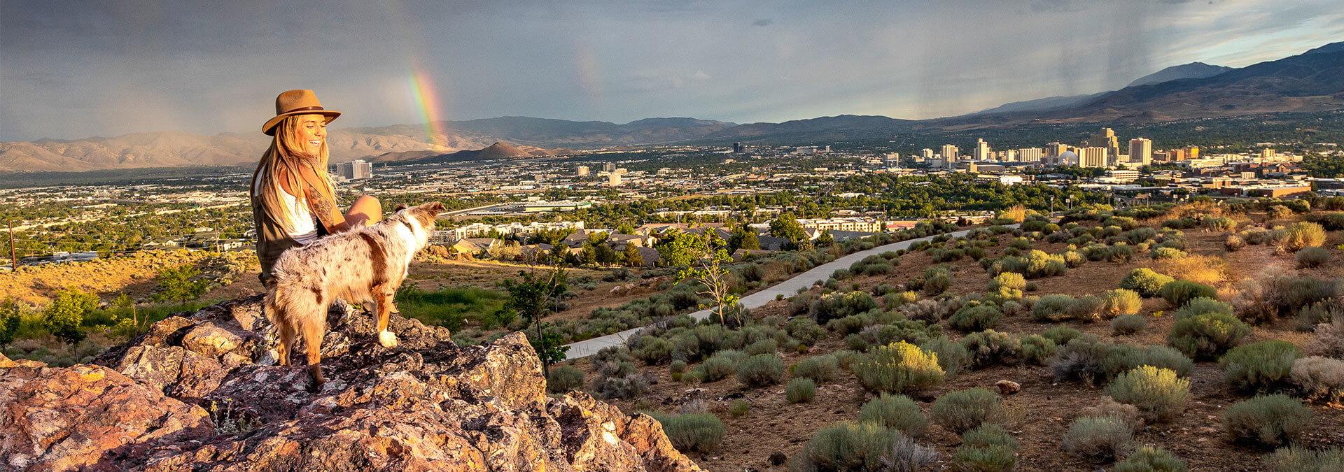 Reno Skyline with Rainbow