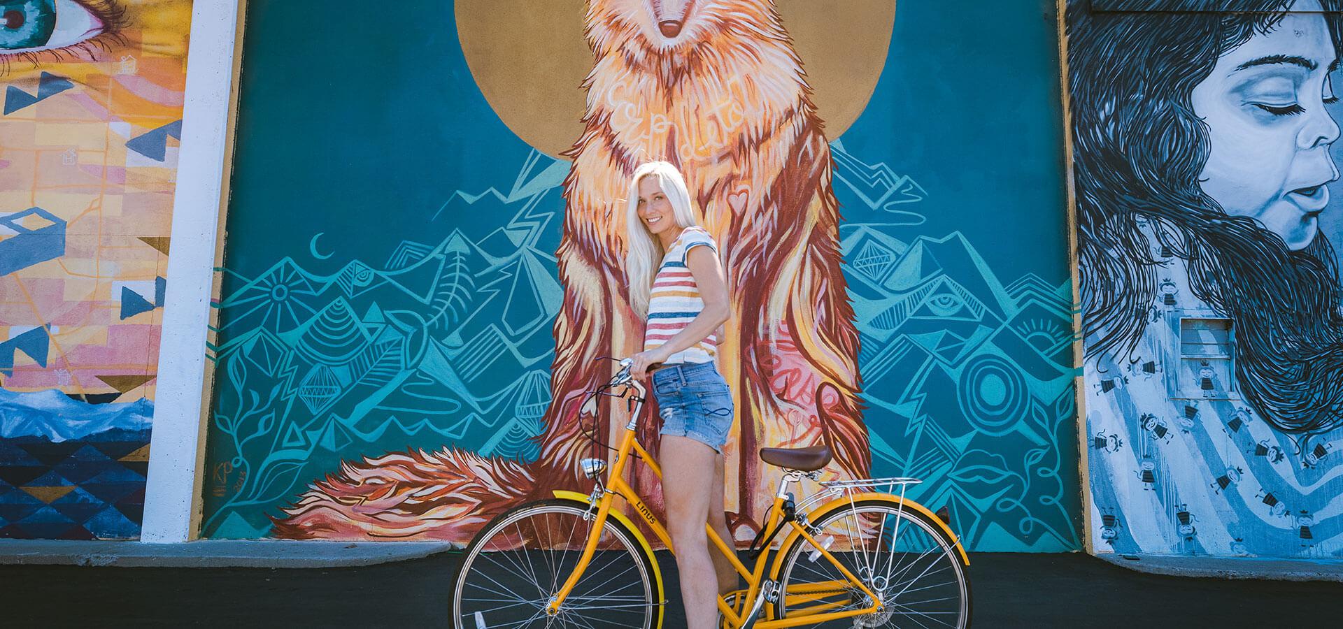 Biking and Murals Downtown Reno