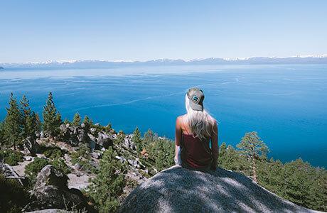 Hiking at Lake Tahoe