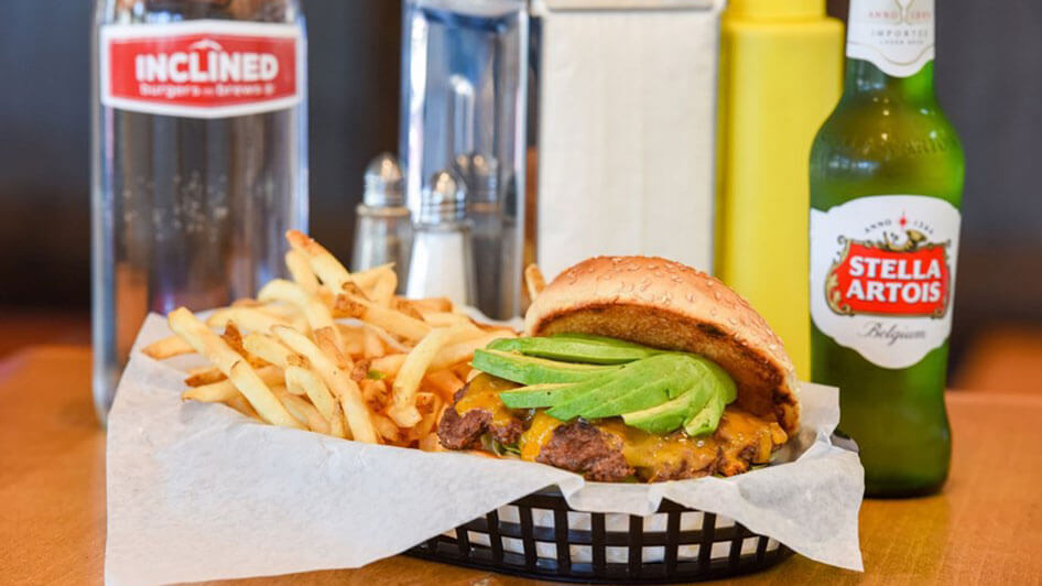 Inclined Burgers Avocado Burger