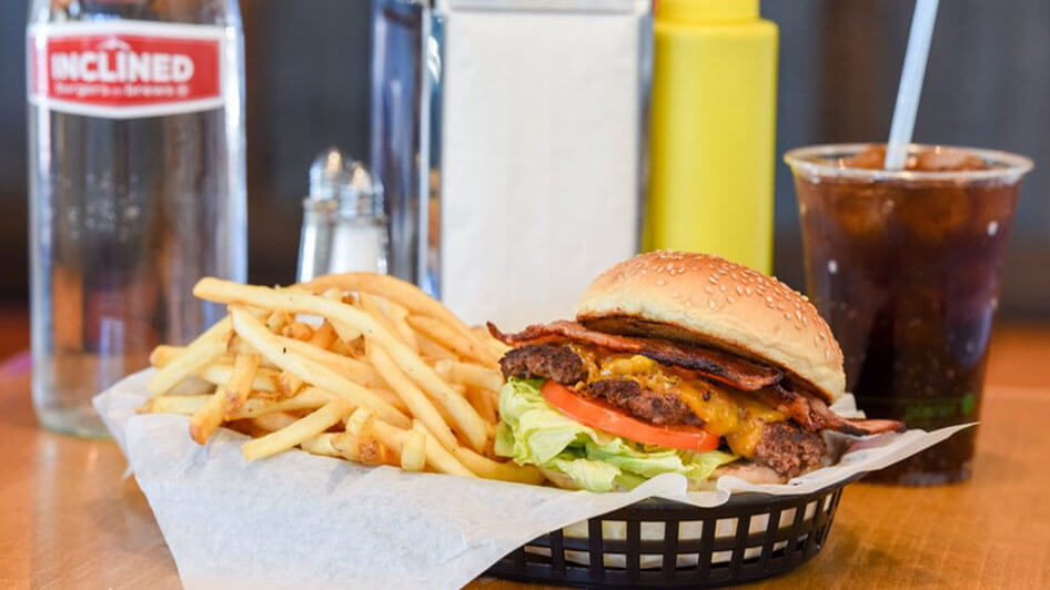 Inclined Burgers Bacon Burger