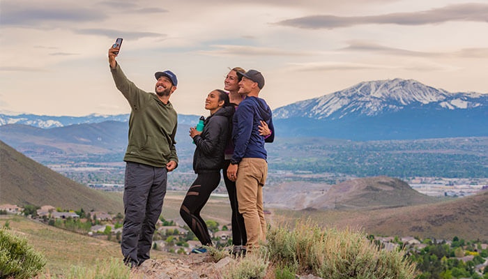 Group Selfie Mountains