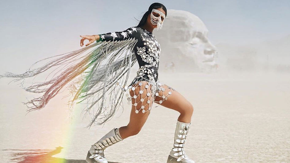 Celebs at Burning Man @maracas