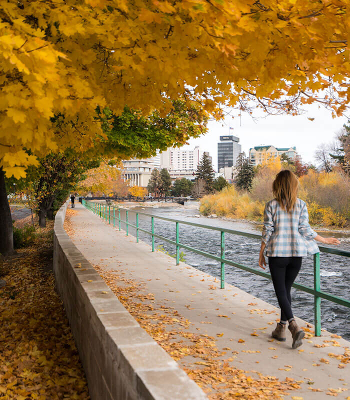 Fall colors and Truckee River Reno