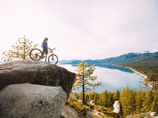 Mountain Biking Flume Trail Monkey Rock Lake Tahoe