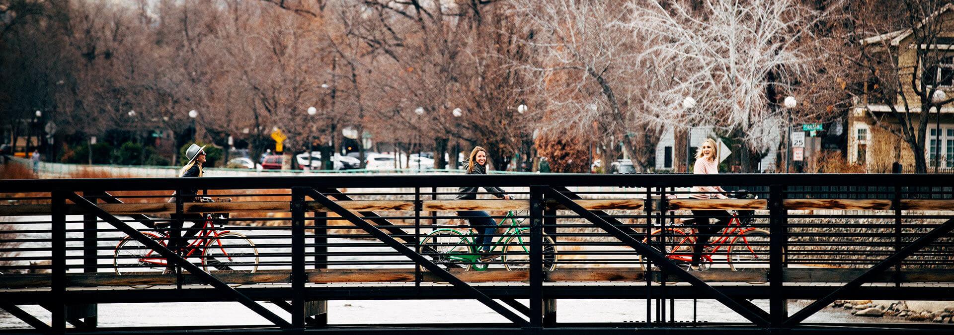 Alisa Geiser, Ali Nicklas,_ River Walk Biking